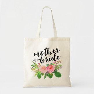 Vattenfärgblommigt Bouquet Mother av bruden Budget Tygkasse