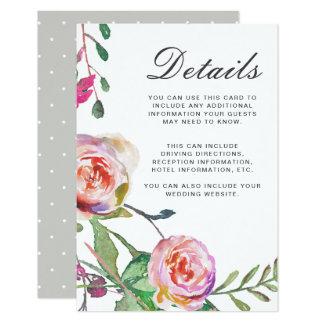 Vattenfärgblommigten och pricker bröllopgästen 8,9 x 12,7 cm inbjudningskort