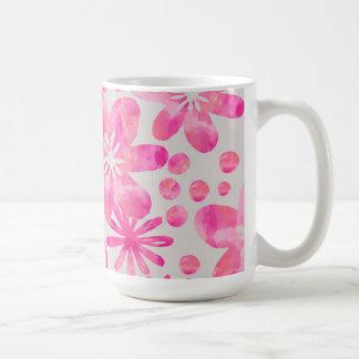 Vattenfärgblommor Kaffemugg