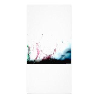 Vattenfärgdesign Fotokort