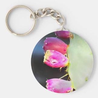 Vattenfärgen för Prickly Pear, personifierar! Rund Nyckelring