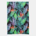 Vattenfärgfågel av paradiset kökshandduk
