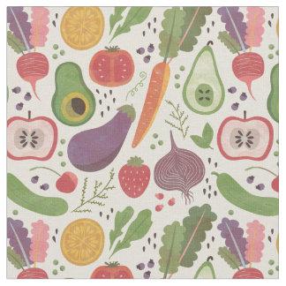 Vattenfärgfrukter & Veggies Tyg
