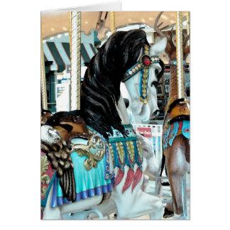 VattenfärgGlad-Gå-Runda häst Hälsningskort