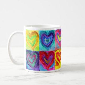 Vattenfärghjärtor Kaffemugg