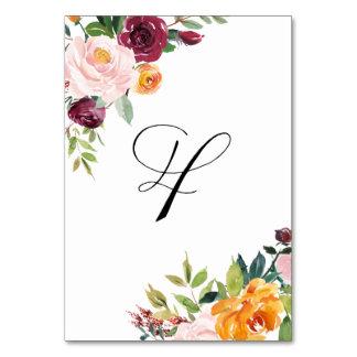 Vattenfärghösten blommar blom- bordsnummer 4