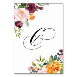 Vattenfärghösten blommar blom- bordsnummer 6
