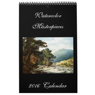 Vattenfärgmålningar 2016 härliga konstkalender kalender
