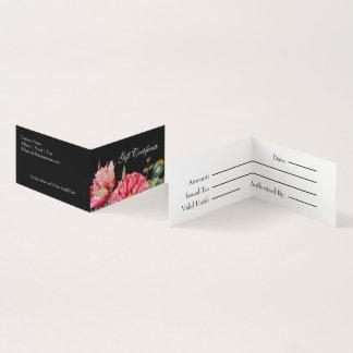 Vattenfärgvallmon blommar presentkortet visitkort