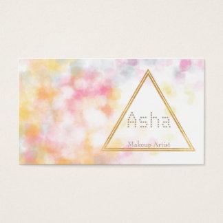 Vattenfärgvisitkortar med triangeln visitkort