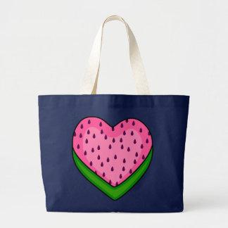 vattenmelon kärleksommar jumbo tygkasse