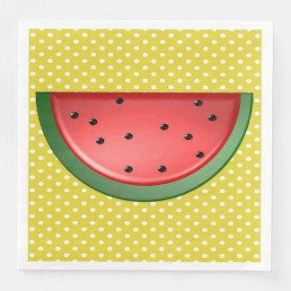 Vattenmelon och polka dots pappersservett