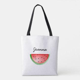 Vattenmelonen som ut lagar mat, personifierade tygkasse