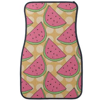 Vattenmelonmönster, orange polka dots bilmatta