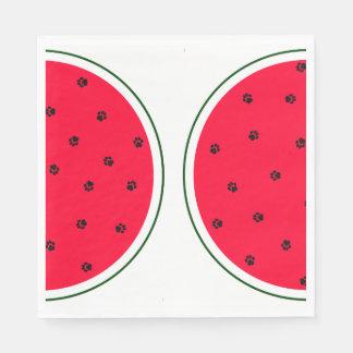 VattenmelonPappersservett med tasstryckfrö Servett