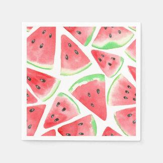 Vattenmelonskivamönster Pappersservett