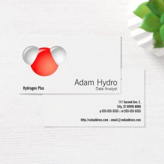 Vattenmolekyl H2O Visitkort