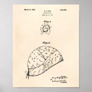 VattenPoloGap 1925 patenterad konst gammala Peper Poster