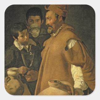 Vattensäljare av Seville, c.1620 (olja på kanfas Fyrkantigt Klistermärke