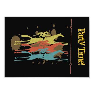 Vattna med slang tävlings- partyinbjudningar 12,7 x 17,8 cm inbjudningskort