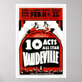 Vaudeville all stjärna 1938 WPA Poster