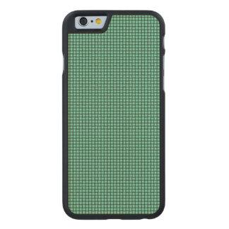 Väv - Aquamarine Carved Lönn iPhone 6 Skal