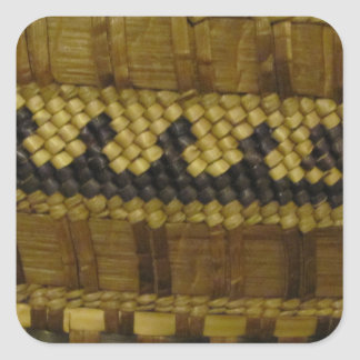Vävd konst för fiber för NW-kusten indisk Fyrkantigt Klistermärke