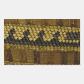 Vävd konst för fiber för NW-kusten indisk Rektangulärt Klistermärke