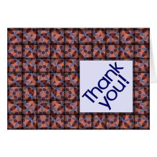 Vävt mönstrat hälsningkort för tack hälsningskort