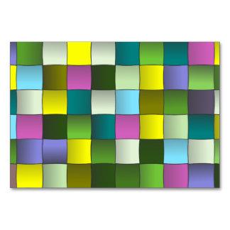 Vävt mosaiskt mönster bordsnummer