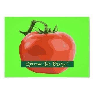 Väx det babyen! - Tomatinbjudan 12,7 X 17,8 Cm Inbjudningskort