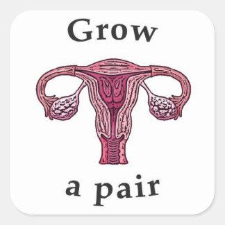 Väx en para (av ovaries) fyrkantigt klistermärke