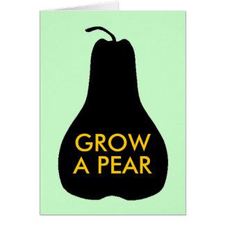 Väx en Pear Hälsningskort