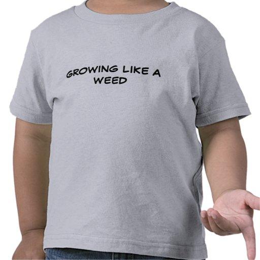Växa likt ett ogräs tee shirts