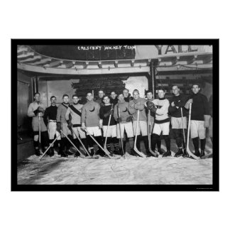 Växande hockeylag i New York 1911 Poster