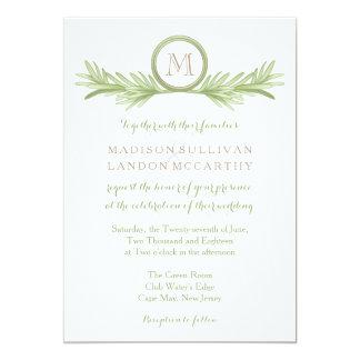 Växt- bröllop för rosmarinSprigs 12,7 X 17,8 Cm Inbjudningskort