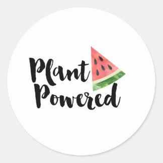 Växt driven klistermärke