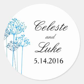Växt- extasbröllop runt klistermärke