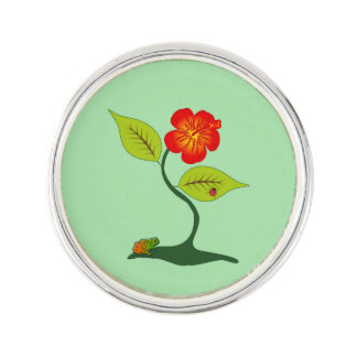 Växt och blomma kavajnål