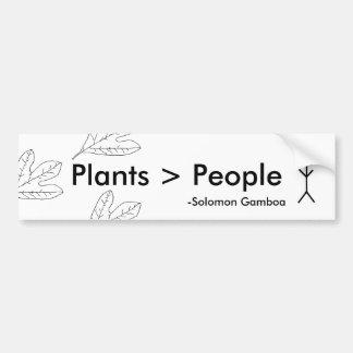 Växter är mer underbar än folk bildekal