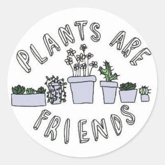 växter är vänklistermärken runt klistermärke
