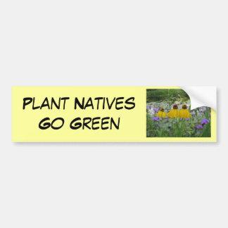 Växtinfödingar går grön Verbena Bildekal
