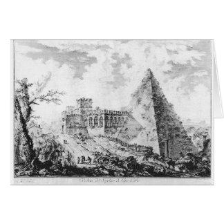 Vedute di Roma av Giovanni Battista Piranesi Hälsningskort