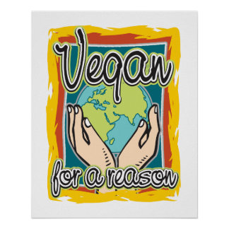 Vegan för en resonera poster