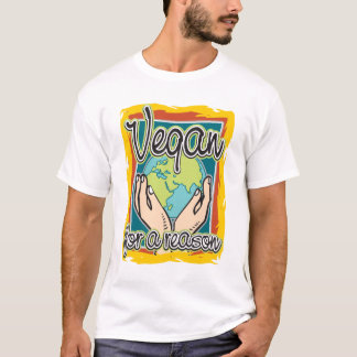 Vegan för en resonera t shirts