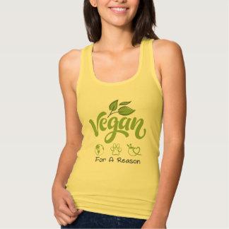 Vegan för en resoneratanktop tee shirt