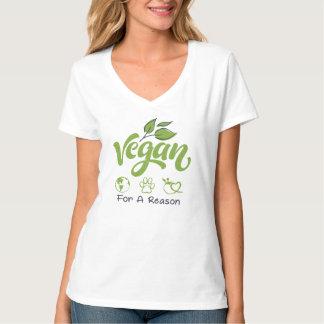 Vegan för en resoneraV-Nacke T-tröja Tee
