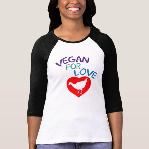 Vegan för kärlek tshirts