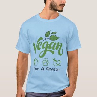 Vegan för resoneramanar en T-tröja för kortärmad T-shirt