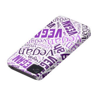 """Vegan"" Ord-Moln mosaik iPhone 4 Skydd"